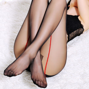 Sexy Bust Women Pantyhose New Stockings T crotch transparent thin line design Lady Lingerie Tights - Thj Fashion Boutique