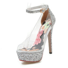Load image into Gallery viewer, Sexy Clear Open Toe Platform High Heels Pumps Stilettos - Thj Fashion Boutique