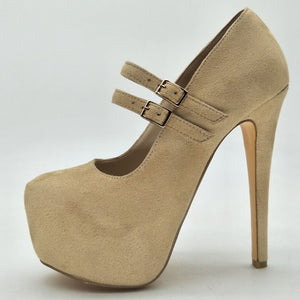 Beige cashmere leather, high heels Soft Leather - Thj Fashion Boutique