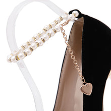Load image into Gallery viewer, Women Black Suede Pearls Ankle Strap Stilettos High Heel Platform Pumps Shoes 16CM Heels Sexy Nightclub Black A481