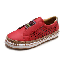 Load image into Gallery viewer, Woman Breathable Slip On Casual Loafers Sneakers Hollow Out Shoes