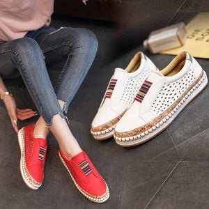 Woman Breathable Slip On Casual Loafers Sneakers Hollow Out Shoes