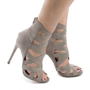 Peep Toe High Heels Hollow Thin Heel - Thj Fashion Boutique