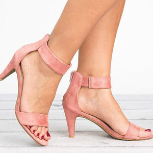 Women Peep Toe Thin Heels Sandals - Thj Fashion Boutique