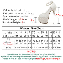 Load image into Gallery viewer, Women Ultra High Heels  Peep Toe Waterproof platform Pumps