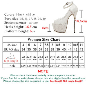 Women Ultra High Heels  Peep Toe Waterproof platform Pumps