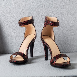 Womens High Heel Summer Shoes Single Strap Open Toe Hels - Thj Fashion Boutique