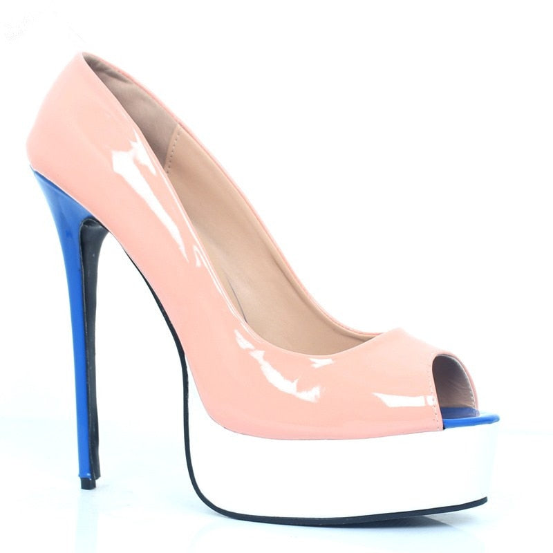 Open toe high heels Women Sexy Pumps 16cm  Stiletto Pumps - Thj Fashion Boutique