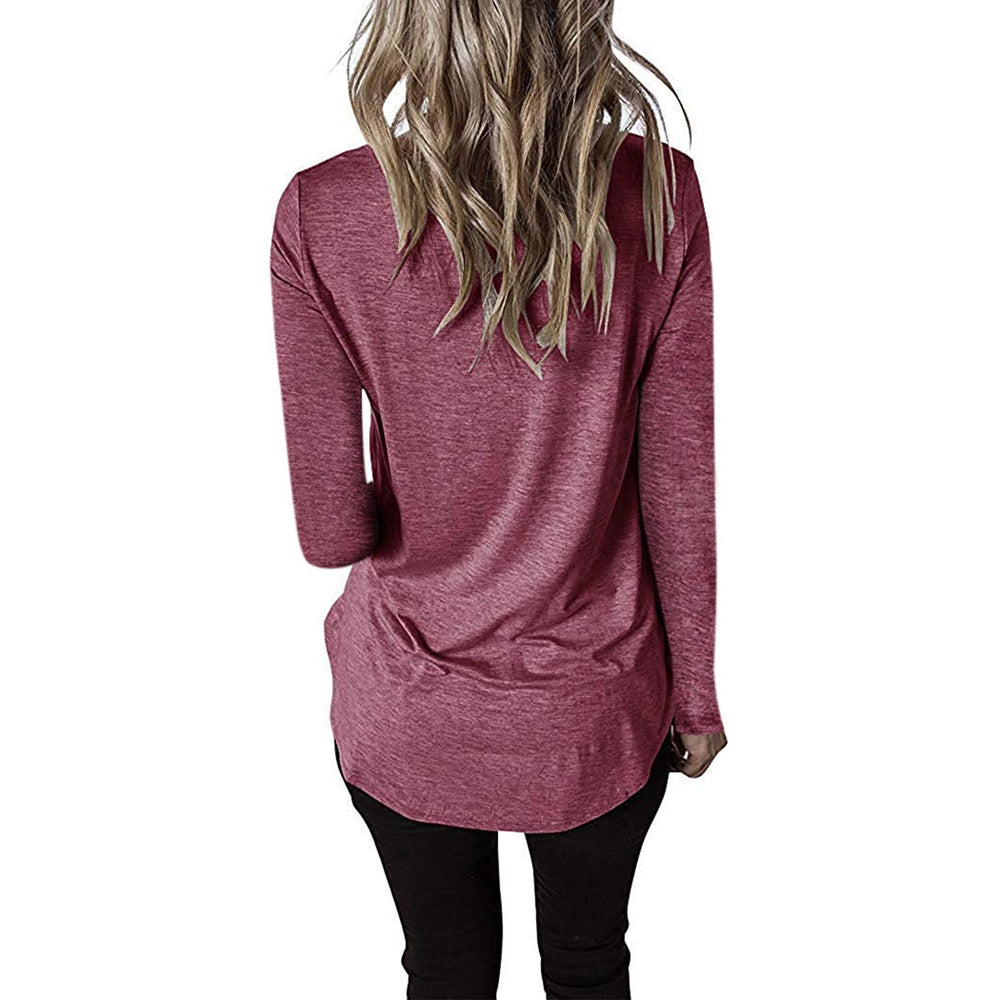 Women's V Neck Long Sleeve