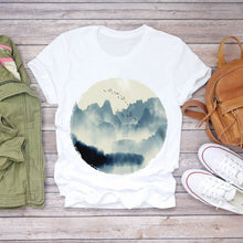 Load image into Gallery viewer, Women  Short Sleeve Floral Flower Fashion Lady T-shirts Top
