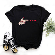Wildflower Dandelion Print Women Cotton Casual t shirt