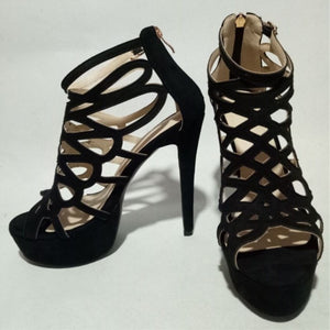 Elegant style suede, 14.5 cm high-heeled sandals,