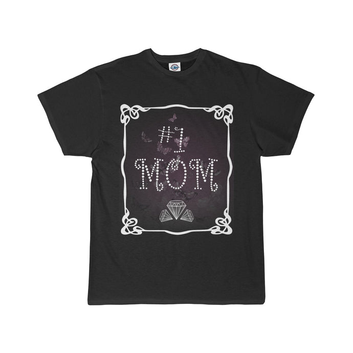 FoxyRox #1 Mom Butterflies Short Sleeve Tee - Black/Mauve