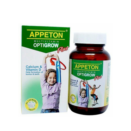 APPETON MULTIVITAMIN OPTIGROW PLUS 60'S
