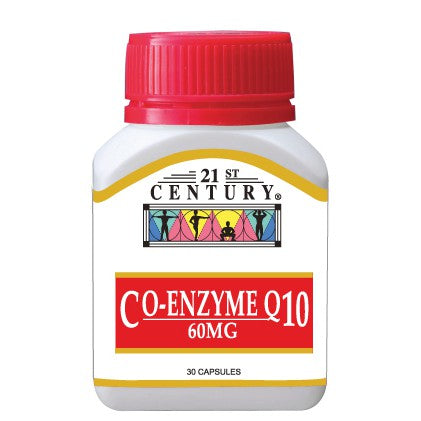 21ST CENTURY CO-ENZYME Q10 60MG 30'S