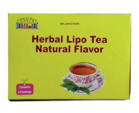 21ST CENTURY HERBAL LIPO WEIGHT REDUCTION TEA NATURAL 24'S