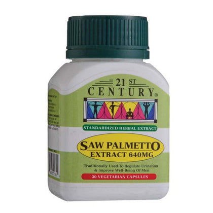 21ST CENTURY SAW PALMETTO EXTRACT 640MG 30'S