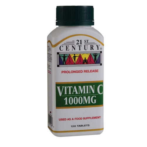 21ST CENTURY VITAMIN C 1000MG PROLONGED RELEASED 120'S