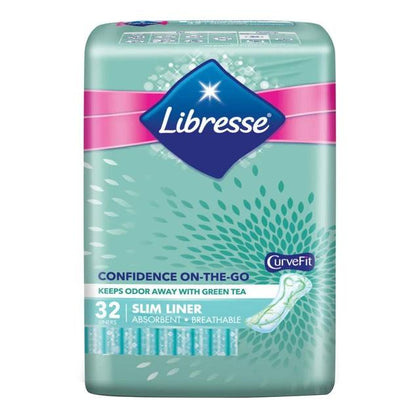 LIBRESSE GREEN TEA SLIM PANTYLINER 32'S