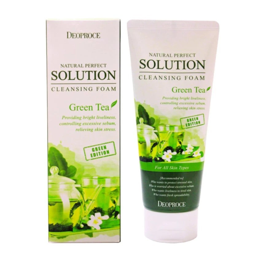 DEOPROCE NPS CLEANSING FOAM GREEN TEA 170GM