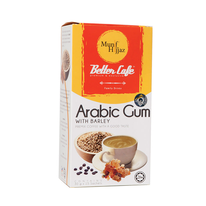 MUNIF BETTER CAFE ARABIC GUM & BARLI 30GX15