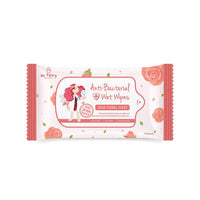 AU FAIRY ANTI-BACTERIAL WET WIPES -ROSE SCENT 10'S