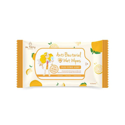 AU FAIRY ANTI-BACTERIAL WET WIPES- YUZU SCENT 10'S