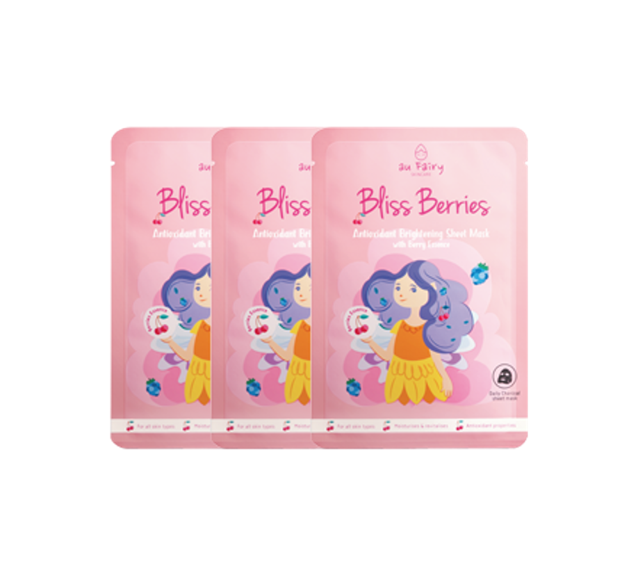 AU FAIRY BLISS BERRIES BRIGHTENING MASK 25ML 3'S