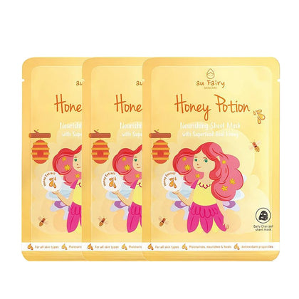 AU FAIRY HONEY POTION NOURISHING MASK 25ML 3'S