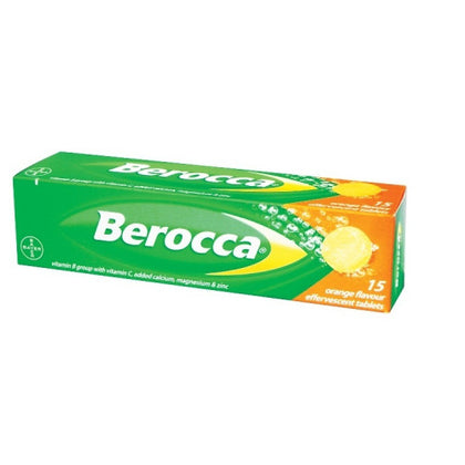 BEROCCA EFFERVESCENT TAB ORANGE 15'S