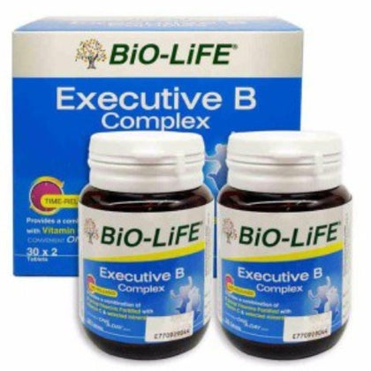 BIO-LIFE EXECUTIVE B COMPLEX 30'S X 2 (VALUE PACK)