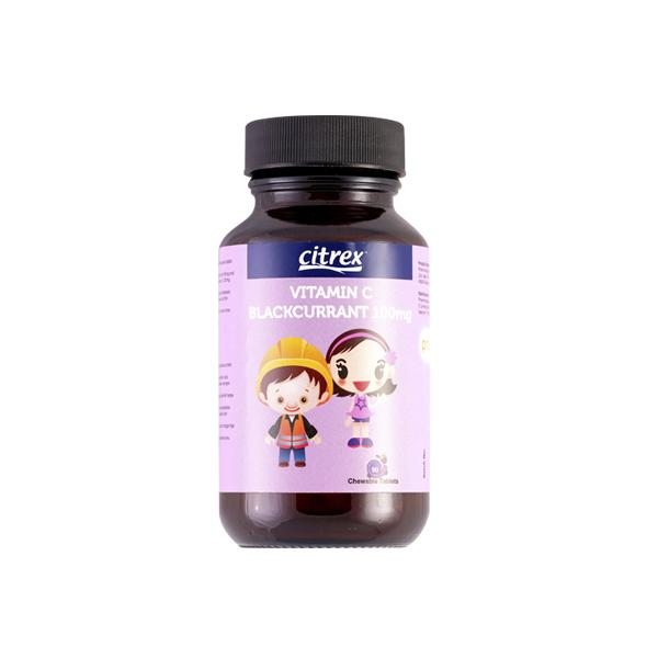 CITREX VITAMIN C 100MG BLACKCURRANT 90'S