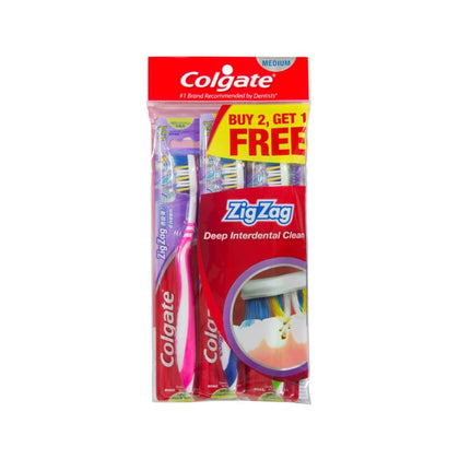 COLGATE TOOTHBRUSH ZIGZAG (MEDIUM) B2F1