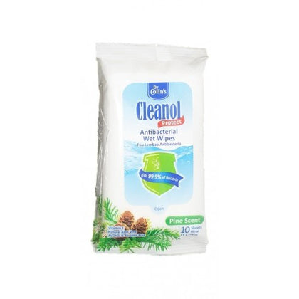 CLEANOL ANTIBACTERIAL WIPES PINE SCENT 10'S