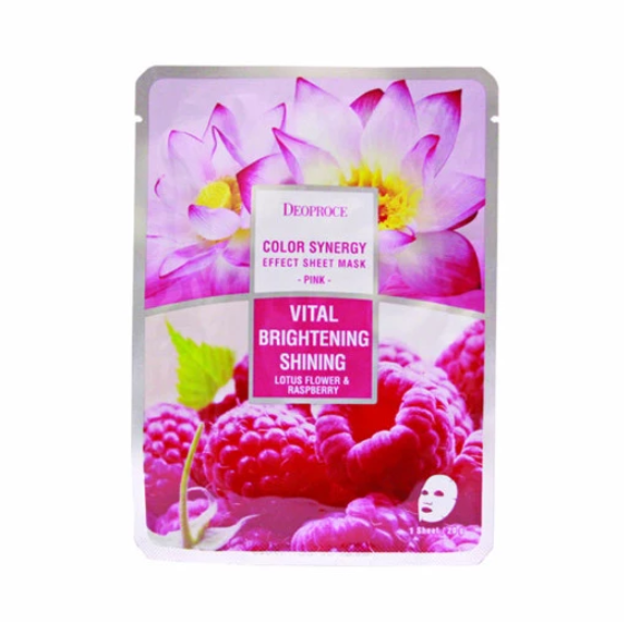 DEOPROCE COLOR SYNERGY EFFECT SHEET MASK PINK 20G