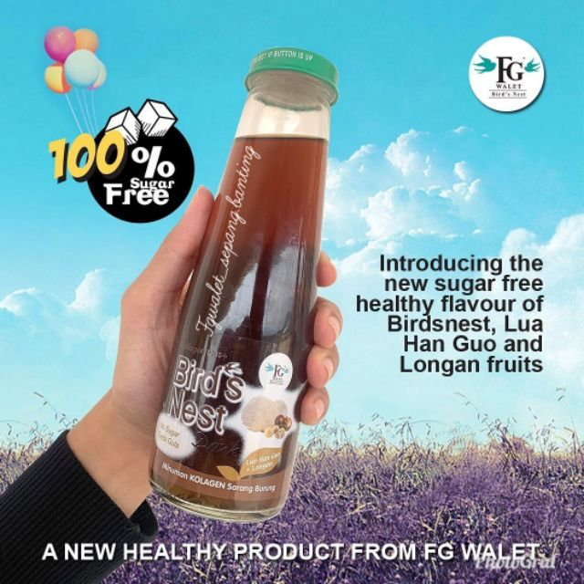 FG WALET COLL PLUS BIRD'S NEST LUO HAN GUO & LONGAN 250ML