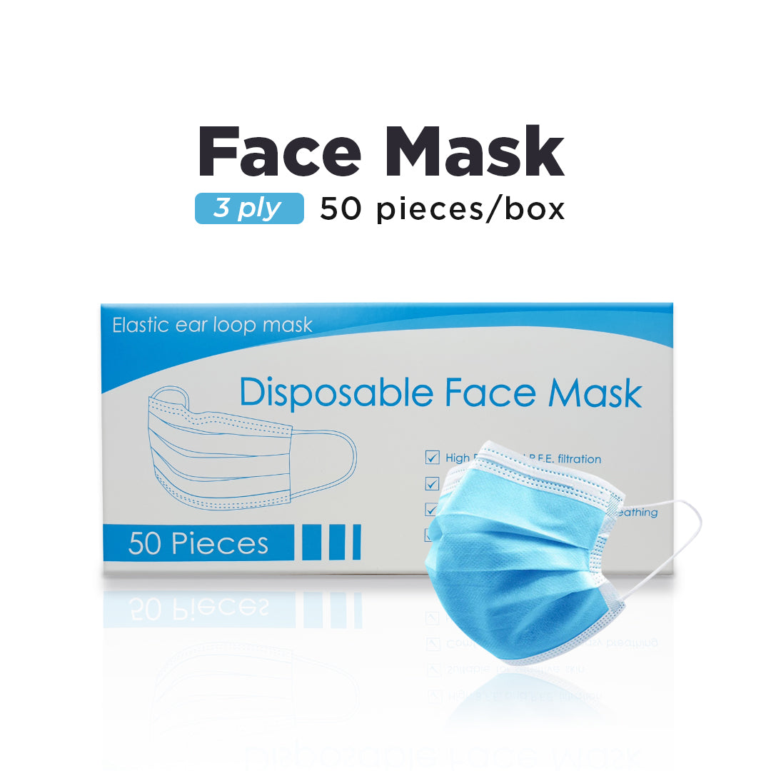 JANNA DISPOSABLE 3 PLY FACE MASK EAR LOOP 50's / BOX
