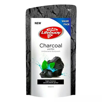 LIFEBUOY BODYWASH CHARCOAL MINT REFILL 850ML