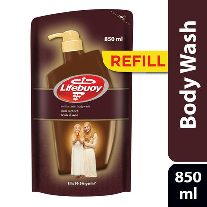 LIFEBUOY BODYWASH OUD PROTECT REFILL 850ML