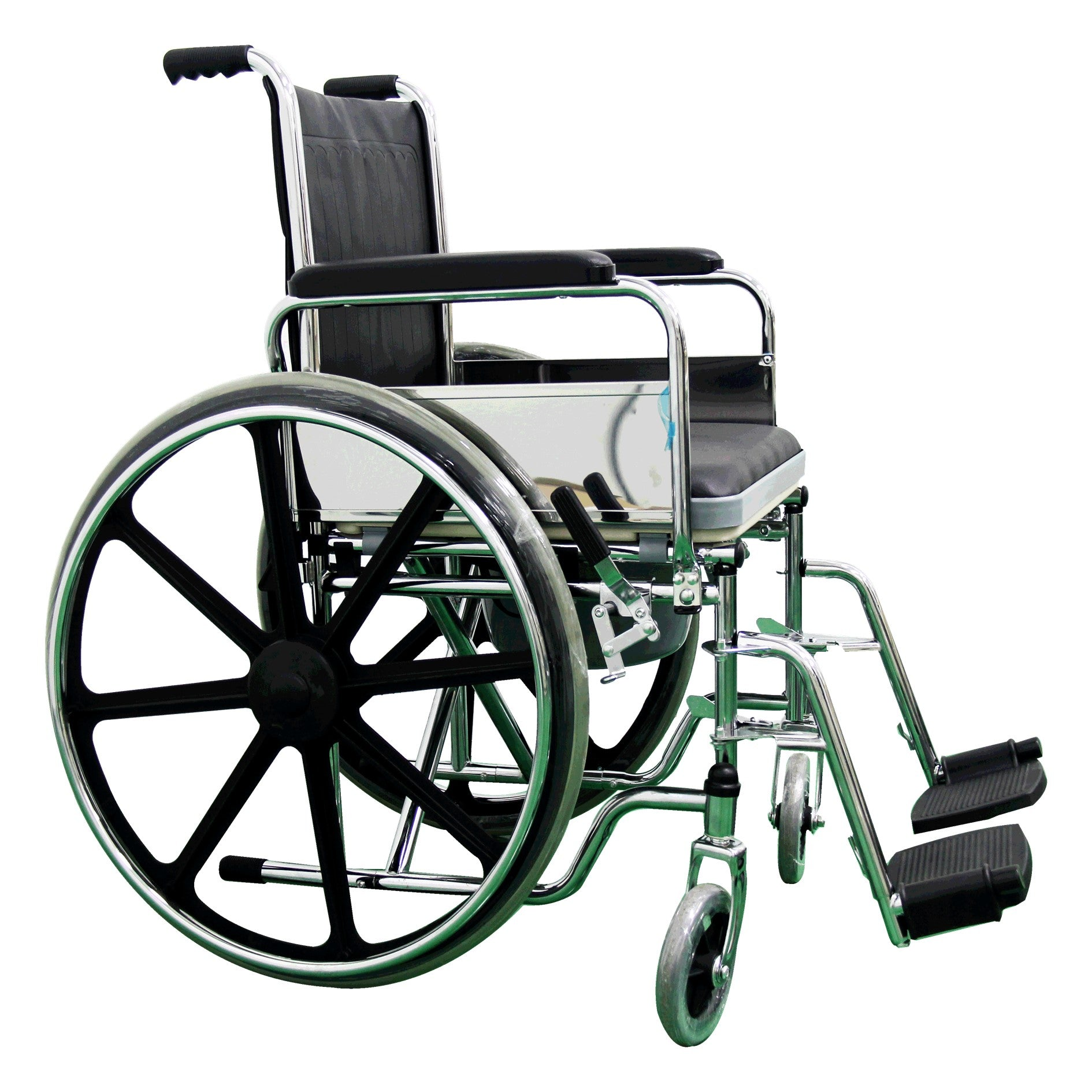 FOLDABLE COMMODE WHEELCHAIR 2 IN 1 18