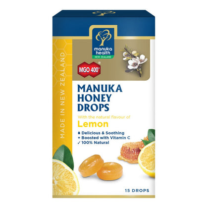MANUKA HEALTH HONEY DROPS+LEMON 15S