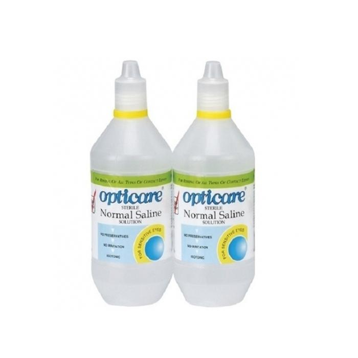 Opticare Normal Saline 120ML (Bottle of Two)