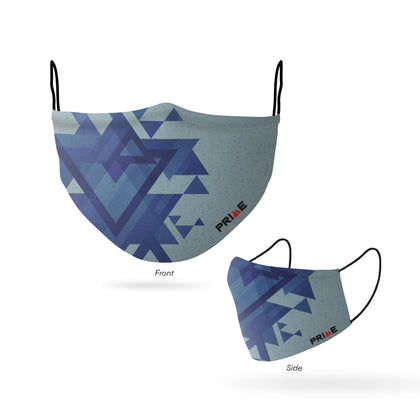 PRIME FACE MASK GEOMETRIC BLUE (S/M)