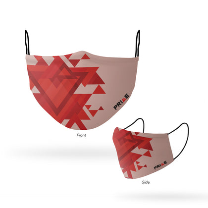 PRIME FACE MASK GEOMETRIC RED (S/M)
