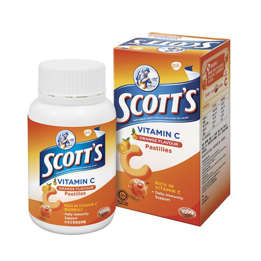 SCOTT'S VITAMIN C PASTILLES ORANGE 50'S