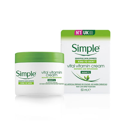 SIMPLE VITAL VITAMIN NIGHT CREAM 50ML