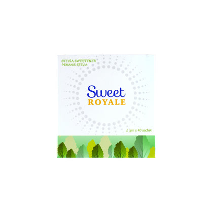 SWEETROYALE STEVIA NATURAL SWEETENER (2G X 40'S ) -EXP 05/2021