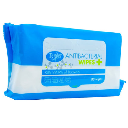 TENDER SOFT ANTIBACTERIAL WIPES 80'S