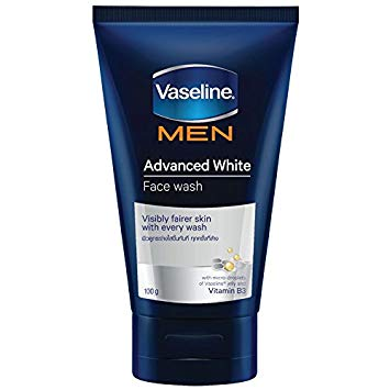 VASELINE MEN HEALTHY WHITE FACE WASH 100G