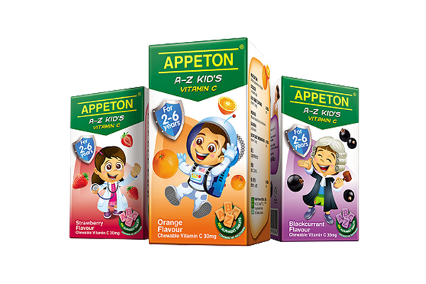 APPETON A-Z KID'S VITAMIN C ORANGE 100'S